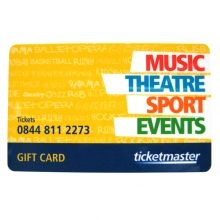 Ticket Master Gift Card Certificate
