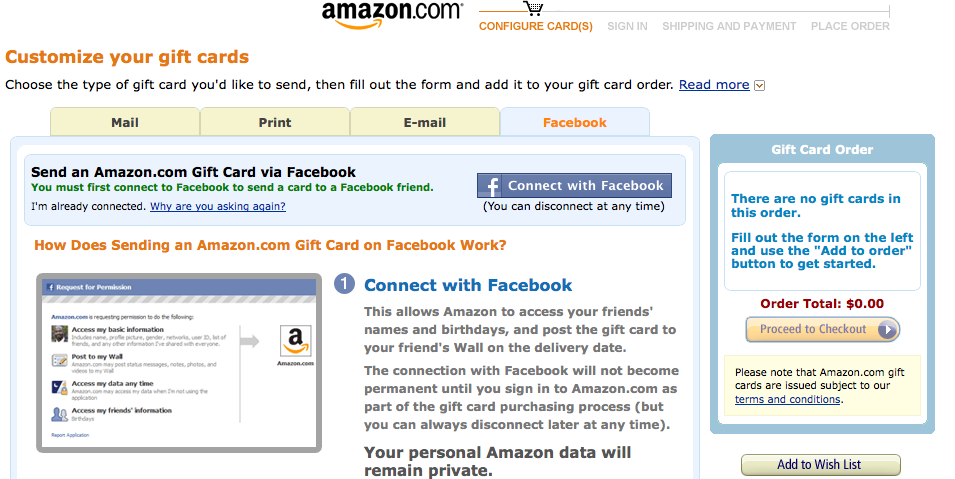 Amazon Gift Cards On Facebook